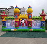 10x6m Commercial fun city micky mouse outdoor kids inflatable playground