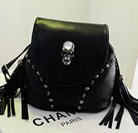 2014 skull backpack designer fringe shoulder bag with strap high quality leather bags for ladies vintage style small bag 4color