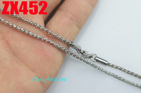 2mm Popcorn chain stainless steel necklace fashion men's women jewelry chains 20pcs ZX452