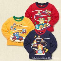 2014 models fall card Tong T shirt clothing wholesale children's wear long-sleeved T-shirt child t-shirt Nishimatsu housing