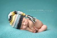 Newborn Fotografia Hats Studio Photographing Hand-woven Winter Hat Kids Striped Cap Baby Boy 0-3M