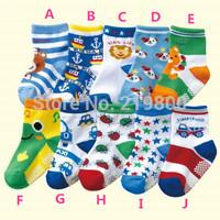 Free shipping ( 10 pairs/lot )  cotton Baby socks rubber slip-resistant floor socks cartoon small kid's socks 1--3 baby