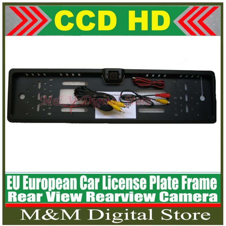 EU European Car License Plate Frame HD CCD Car Rear View Camera Reverse backup Camera rearview parking Waterproof Camera(China (Mainland))