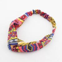 Hot sale women Turban Headband Retro print Twist Headband Boho Headwrap/hair band   HL132