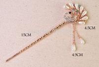 Fashion  crystal women hair sticks peacock hair clasp E1605 5pcs/lot+free shipping