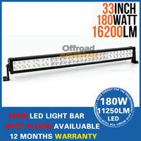"""33"""" 180W LED Work Driving Light Bar Fog Lamp Combo Beam 10V~30V for Car Truck SUV 4x4 ATV OffRoad"""