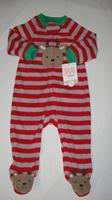 2014 new carter autumn&winter baby boy&girl Long sleeve romper /newborn toddler clothing warm bodysuits  Christmas gift