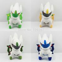 "4pcs/set Anime Cartoon Pokemon Arceus Plush Toys Soft Stuffed Animal Doll 7.5""/19cm"