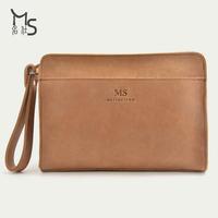 2014 Limited Real Freeshipping Soft Handbag Guarantee 100% Genuine Leather Men Bag Crazy Horsehide Trend Man Hand Bags Phone Key