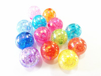 Newest  !  20MM 100pcs/lot Mixed Crack  Beads With AB Effect