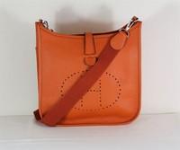 High-quality (1:1) 29CM 100% Genuine leather (H-handbags)  Women's handbags purse 100% Genuine leather Tote Silver  hardware