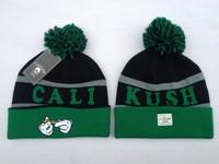 2014 new winter hat green/black skullies Beanie hats for women-men knitted beanies with pom hip hop cheap headwear gorros cap