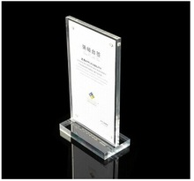 A5 T - type Double-side poster/advertising/price display card stand/ restaurant menu display card 20pieces(China (Mainland))