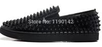 Black Louis Spikes red bottom men sneakers hot sale 2014