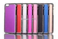 Thin Brushed Aluminum Hard case Luxury plastic Case Mesh back cover  for iPhone 6/4.7'' free shipping