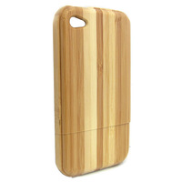Free shipping+tracking number Real Natural Bamboo Wooden Wood Hard Back Case Cover Protector for iPhone 4 4S