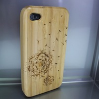 Genuine Tree Natural Real Bamboo Wood Wooden Hard Cover Case for iPhone 4 4G 4S