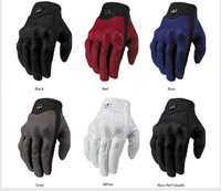 Red Motorcycle Mens Lady Scooter Glove Calfskin Motorcycle Gloves With Hole Summer Motocross Gloves Metal Signs Ms.