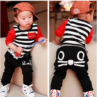 2014 New Autumn Children's Clothing Korean Baby Suit Kids Clothes 0-1-2-3 Years Old Tide Free Shipping