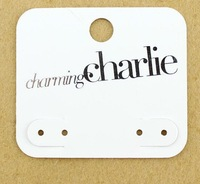 Wholesale Fashion Jewelry Package White PVC Earring Card Tag