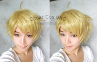Kanbara Akihito Gold Short Styling Anime Cosplay Hair Wig