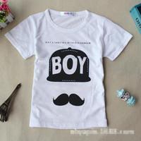 The new children's summer cotton short-sleeved t-shirt child fashion brand selling children's clothing children's clothing
