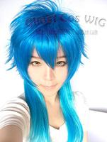 Dramatical Murder/DMMD Blue Gradient Anime Shaggy Cosplay Hair Wig