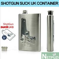 SHOT GUN SUCKUK MINI Stainless Steel Alcohol Container whiskey Whiskey hip flask vasos Drinkware Free shipping!