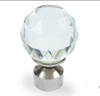 28MM Fashion  Crystal  roman rod ball head Curtain Accessories Decor