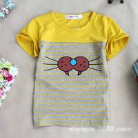 Summer hot new cartoon child t-shirt printing cotton round neck Korean fashion clothing wholesale children's clothing