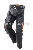 2014 NEW KTM cross-country trousers Waterproof all-round pants Waterproof Motorcycle Racing pants with protector black M L XL