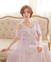 light purple/grey sequins beading chiffon long medieval dress Renaissance lace Gown princess costume Victorian /Marie Antoinette