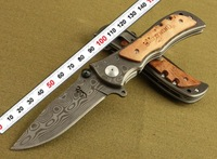 BROWNING classics 339 folding blade knife outdoor goods survival hunting camping knife saber army knives Damascus imitation 339