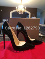 NEW 120MM PIGALLE SO KATE BLACK PATENT PUMPS FOR WOMEN