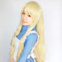 Kozakura Mari 120cm Blonde Wave Long Heat Resistance Cosplay Anime Wig