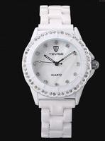 Hong Kong Twiss female form ceramic Miss Shi Ying table diamond fashion waterproof genuine Korean Ladies Watches