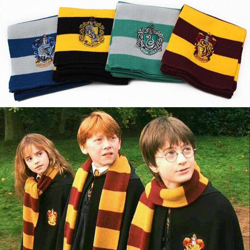 Harry Potter Scarf Scarves Gryffindor Hufflepuff Slytherin Knit Scarves Cosplay Costume Gift