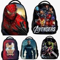 Spider Man Iron Man Bat man The Avengers Captain America Backpacks Girls Boys Kids students children School Bags travel Bag