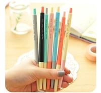7Pcs/lot Kawaii Cute Pen stationery Gel Pen candy color Creative School Supplies Gift Pen Free Shipping