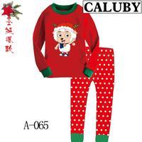 2014 autumn / winter Christmas Frozen 2-7T BABY & kids Clothing 2 piece suit Pyjamas Pleasant goat Cotton Homewear 065