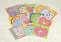MINI-1306 Mini 3D DIY greeting card for birthday,Invitation Card 115*118mm 100pcs/lot+free shipping