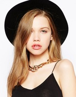 Order $16 automatically free shipping .Fashion Designer Jewelry star shape  Necklace ,heavy feeling chain necklace