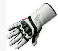 2010 automobile race long design cowhide gloves g-0762 motorcycle gloves