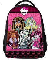 Cartoon Monster High Backpacks Girls Boys Kids students children School Bags notebook Zipper travel Bag Notebook