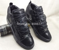 Black Snake Leather Arena Sneakers Size 38-46  Men's High Top Running Kanye West footwear Brand Mens Fashion Trainers