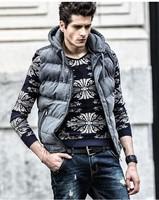Winter new European style men's vest detachable hooded vest wholesale men's casual men's fashion vest