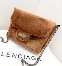 2014 winter shoulder bag high quality fur tote bags designer mini chain bag for ladies Korean style women handbags black 6colors(China (Mainland))