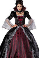 Free shipping Splendid Vampire Dress Halloween Costume 2014 Women Halloween Costume Wholesale 10pcs/lot Fancy dress 8840
