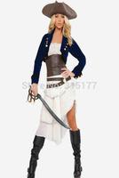 DHL Free shipping Colonial Pirate Women Costume 2014 Women sexy costume Wholesale 10pcs/lot Adult Fancy dress costume 8839