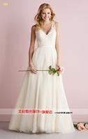 new 2015 a line wedding dress European and American retro lace wedding dresses vestido de noiva fashionable robe de mariage
